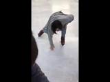 Феерическое катание японки на коньках