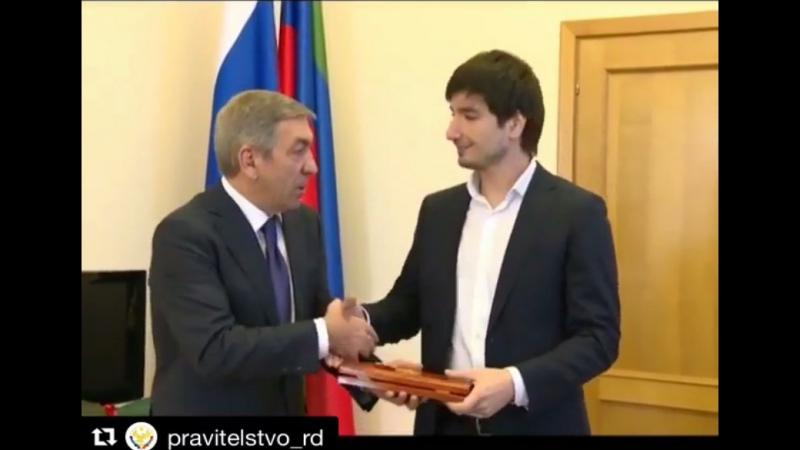 Селим Алахяров. Встреча с врио премьер-министра Дагестана