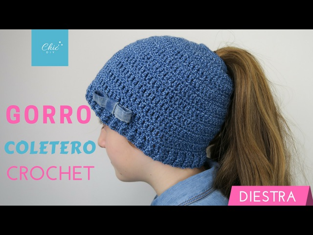 GORRO COLETERO A CROCHET | DIESTRA | CHIC DIY