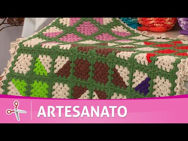 Vida com Arte | Tapete em crochê por Cristina Luriko - 16 de Setembro de 2016