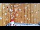 How to make SNOWMAN VASE and SILVER TWIGS. Christmas decoration DIY.