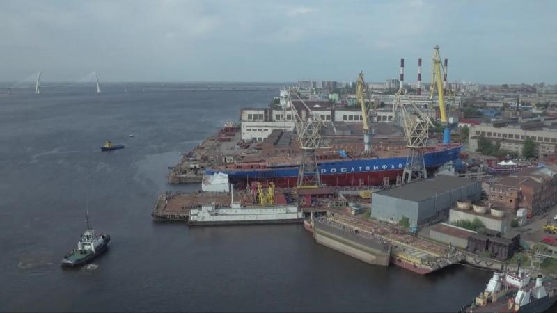 Спуск атомного ледокола Сибирь, 22.09.2017