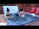 Rachelle pees in the hot tub - Big Brother Canada