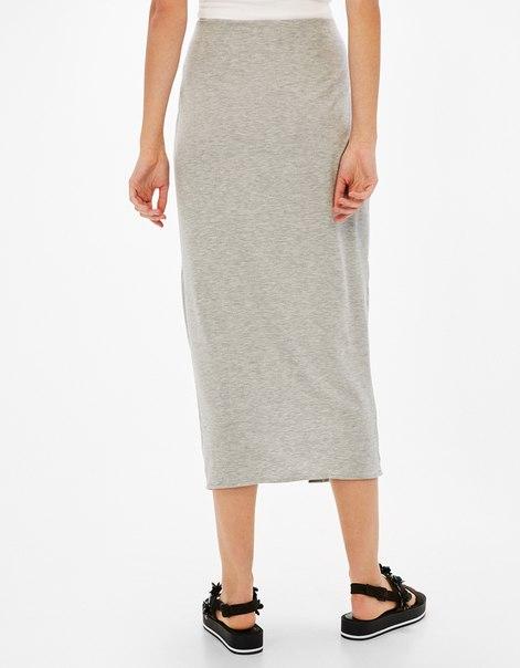 Длинная юбка с запахом и сборками
