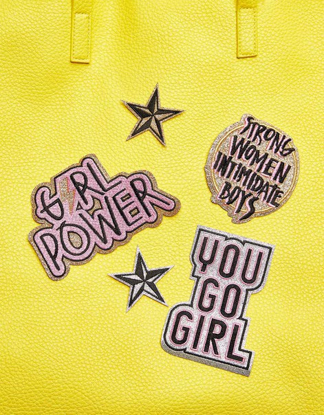 Набор из 5 нашивок «Girl Power»