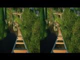 5D Аттракцион. Американские горки в джунглях 3D VR SBS