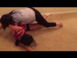 Female wrestling teaser