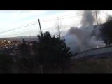 В Испании горящая машина внезапно уехала от пожарных