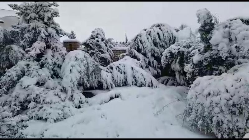 Привет из Луганска: снег движется на Ростовскую область