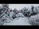 Привет из Луганска снег движется на Ростовскую область