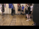 Бокс упражнения на координационной лестнице