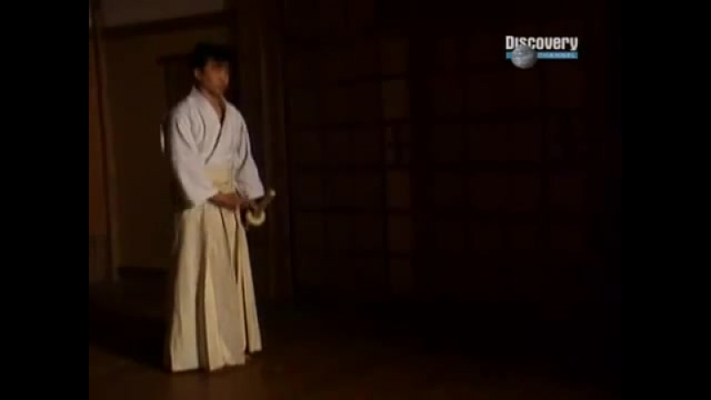 Demonstration of Kashima Shinryu kenjutsu in the television show Discovery Channel German