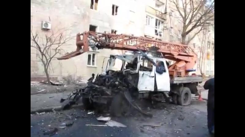 Донецк. 4 февраля, 2015. Район ДИПТ. Текстильщик