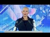 Robot Sophia speaks at Saudi Arabias Future Investment Initiative