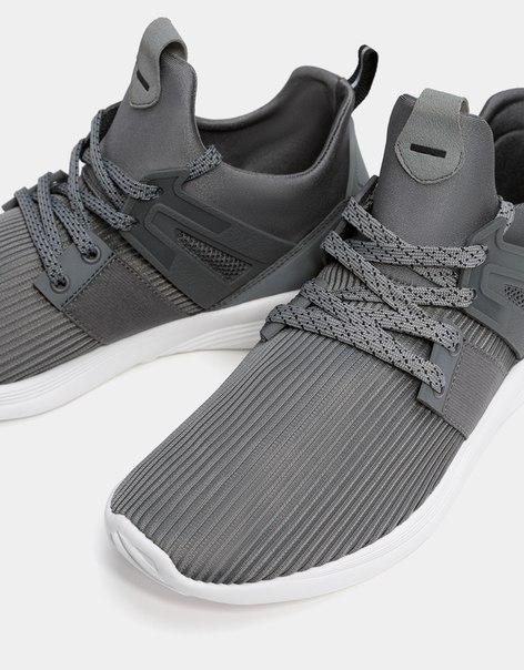 Комбинированные мужские кроссовки из ткани