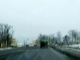 ничего необычного - просто транспортировка мусора в Боровском районе:)