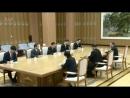 Le chef suprême de la Corée du Nord Kim Jong-un a accueilli lundi une délégation sud-coréenne lors d'une réunion à Pyongyang