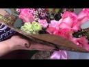 Сборный букет из роз и кустовых гвоздик от ® DariRoza