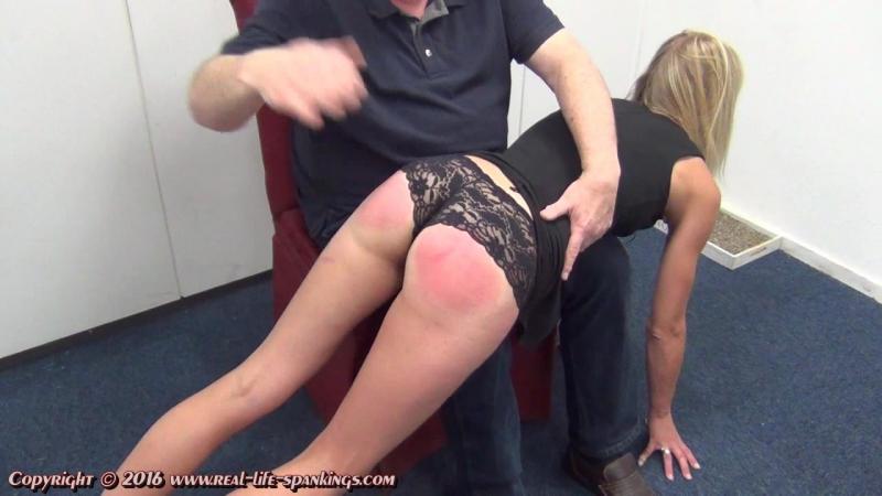 Real life spankings - Jentinas first spank