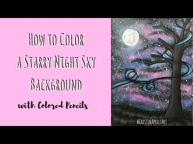 How to Color a Galaxy Background or a Starry Night Sky