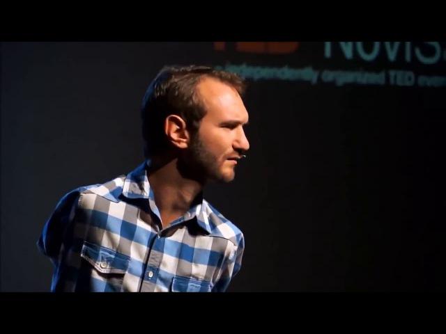 Лучшие слова Ника Вуйчича Как преодолеть отчаяние Nick Vujicic Смотреть Видео Бесплатно