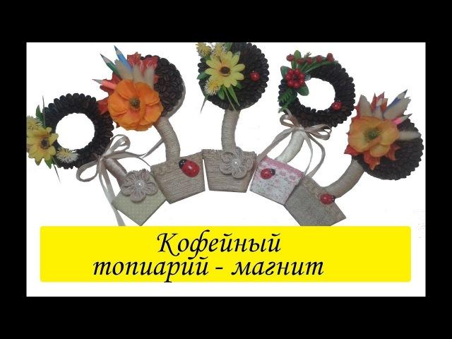 Кофейный топиарий - магнит на холодильник Master-class mini topiary-magnet Сама Я mk