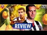 FIFA MOBILE 99 GOLDEN EGG MCALLISTER REVIEW #FIFAMOBILE GE MCALLISTER PLAYER REVIEW STATS GAMEPLAY
