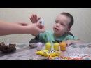 Домики с картона. Открываем киндер сюрпризы.Обзор игрушек.Review of toys
