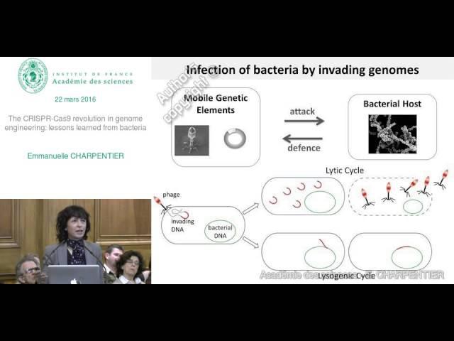 Conférence - E. CHARPENTIER - Le CRISPR Cas9 - La révolution de l'ingénierie génomique