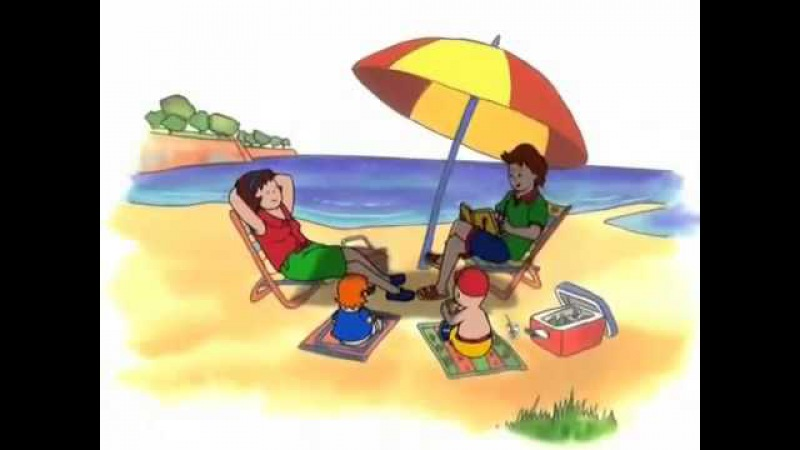 Caillou at the Beach