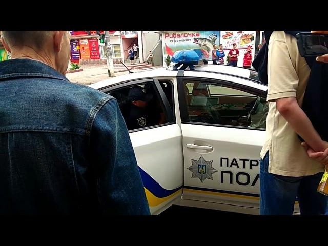 Затримання буйного алкаша хмельницькою поліцією