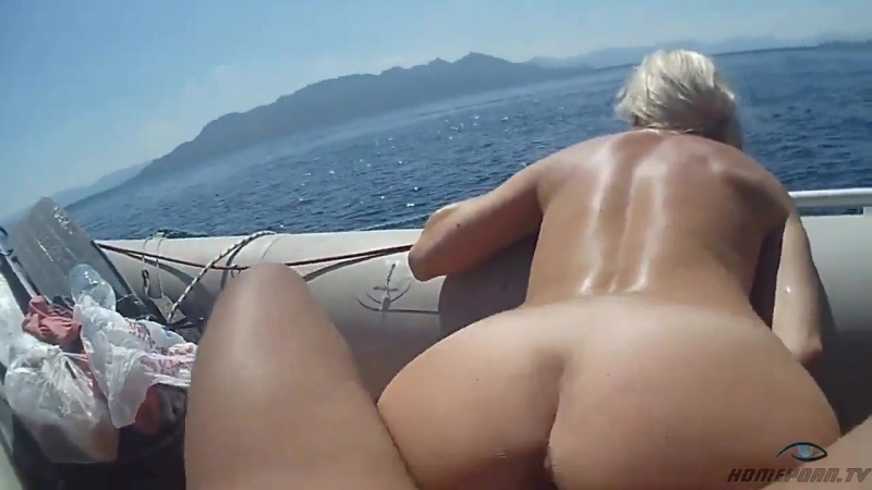 Sex in a boat on the sea