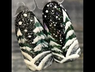 Зимние елки❄️⛄️🌨⛄️❄️ быстро, просто, красиво!!!