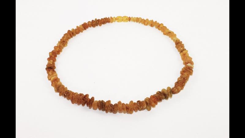 Арт 374 Янтарные бусы из необработанного янтаря