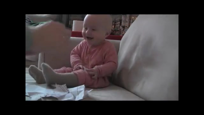 baby laughing at paper ripping Some babies find the oddest things funny or scary.