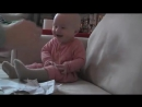 Baby Laughing Hysterically at Ripping Paper Original