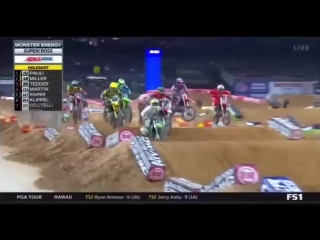 2018 AMA Supercross Rd#2 Houston Complete Race HD