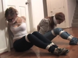 Babysitter and Friend Bound and Gagged