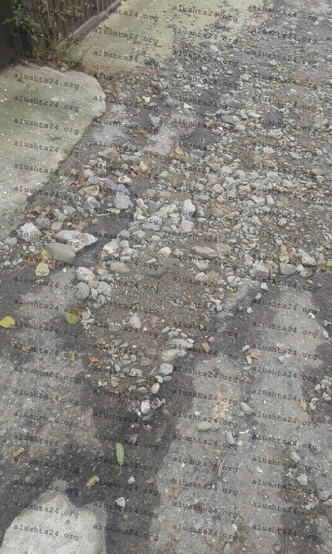 Все об Алуште: Дорожное полотно на Таврической, Пионерской ,Снежковой, Пограничной, Мирном