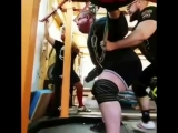 Влад Алхазов (Израиль), присед в бинтах - 490 кг на 2 раза 💪