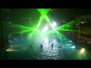 И снова Аквапарк) Зеленые 5 Ваттные Лазеры KVANT