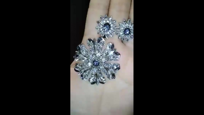 Серьги Majestic crystal