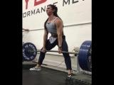 Стефани Кохен, тяга с плинтов 260 кг