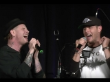Jensen Ackles and Corey Taylor of Slipknot singing Wanted Dead or Alive in Las Vegas 2018.