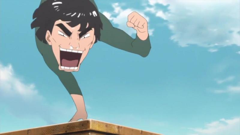(Момент из аниме Naruto Shippuuden) Любовь Рок-ли к Гаю