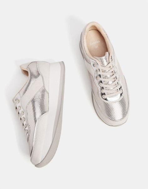 Серые комбинированные кроссовки