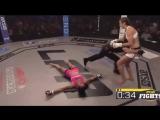 Сабина Мазо в очередной раз нокаутирует соперницу брутальным хайкиком