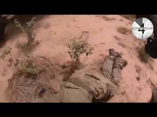 Засада ИГИЛ на американо-нигерийский патруль. Видео с американской камеры GoPro. 18+