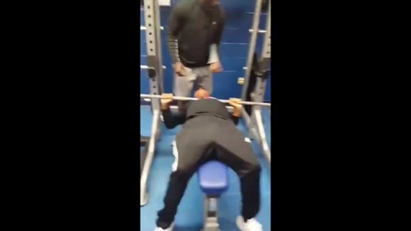 Man bets he could bench 185