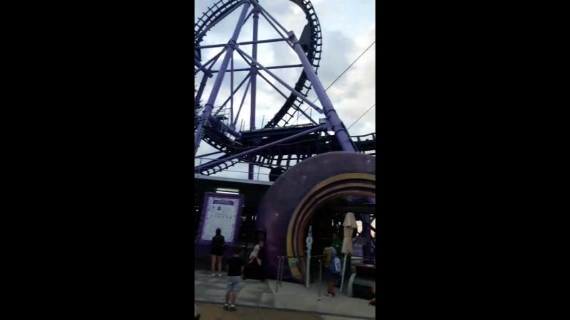 Квантовый скачок😨самая страшная горка в Сочи парке